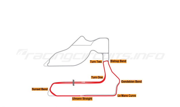Map of Sebring, School Circuit 2019 to date