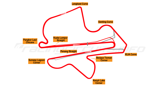 Map of Sepang, 1999 to date