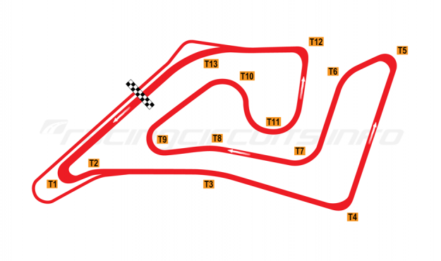 Map of Shanghai Tianma Circuit, 2004 to date