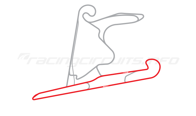 Map of Shanghai International Circuit, East Handling Circuit 1 2004 to date