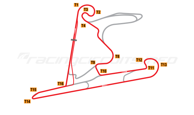 Map of Shanghai International Circuit, Intermediate Circuit 2004 to date