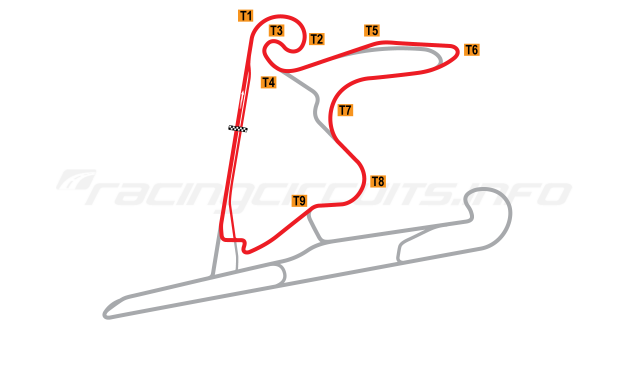 Map of Shanghai International Circuit, West Long Circuit 2004 to date