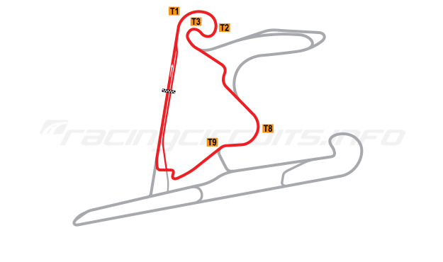 Map of Shanghai International Circuit, West Short Circuit 2004 to date