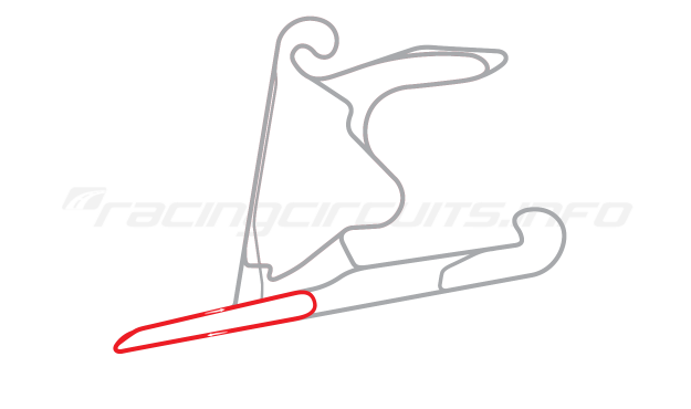 Map of Shanghai International Circuit, East Handling Circuit 2 2004 to date
