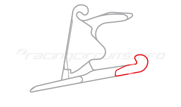 Map of Shanghai International Circuit, East Handling Circuit 3 2004 to date