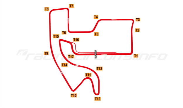 Map of Shougang Motorsport Valley, 2018 to date