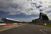 The main straight and 'Wing' pit building at Silverstone.