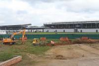 Construction work under way at Silverstone