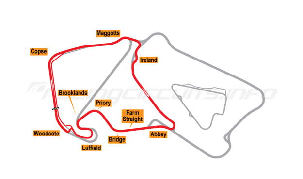 Map of Silverstone, International Motorcycle Circuit 2003-09