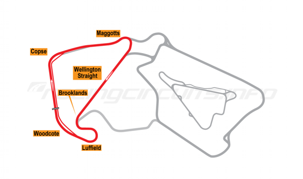 Map of Silverstone, National Circuit 2010