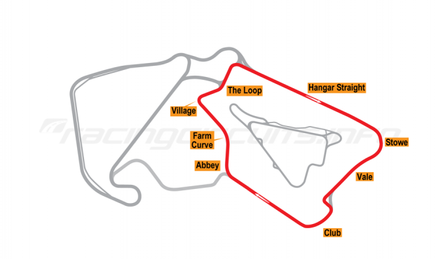 Map of Silverstone, South Circuit 2010