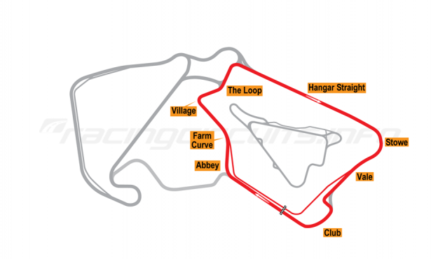 Map of Silverstone, International Circuit 2011 to date