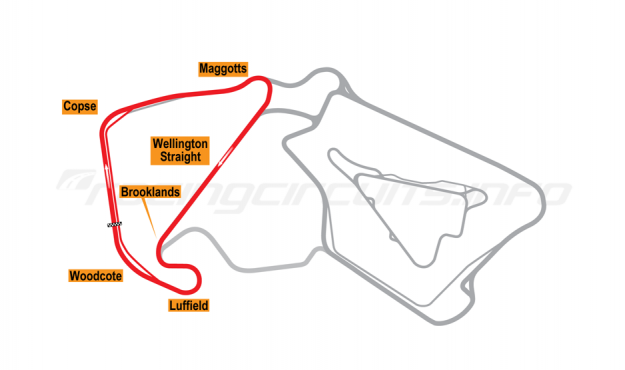 Map of Silverstone, National Circuit 2011 to date