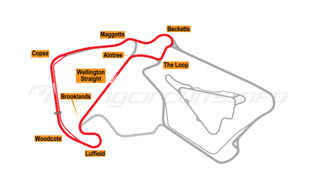 Map of Silverstone, Long National Circuit 2011 to date