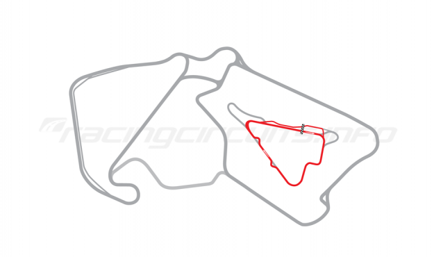 Map of Silverstone, Stowe Circuit 2011 to date