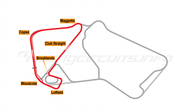 Map of Silverstone, National Circuit 1991-93