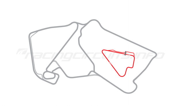 Map of Silverstone, Stowe Circuit 1994-95