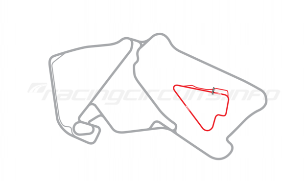 Map of Silverstone, Stowe Circuit 1996