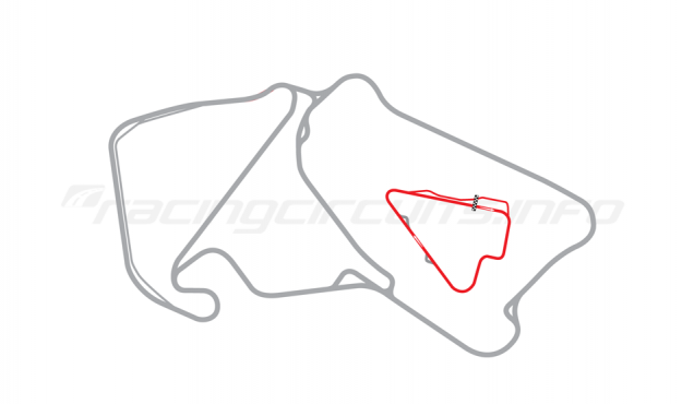 Map of Silverstone, Stowe Circuit 1997-2002