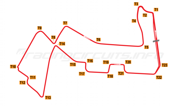 Map of Singapore Marina Bay, Grand Prix Circuit 2008