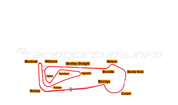 Map of Snetterton, 2011 to date