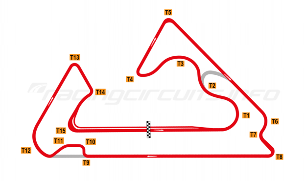 Map of Sokol, Big Ring with chicane 2020 onwards