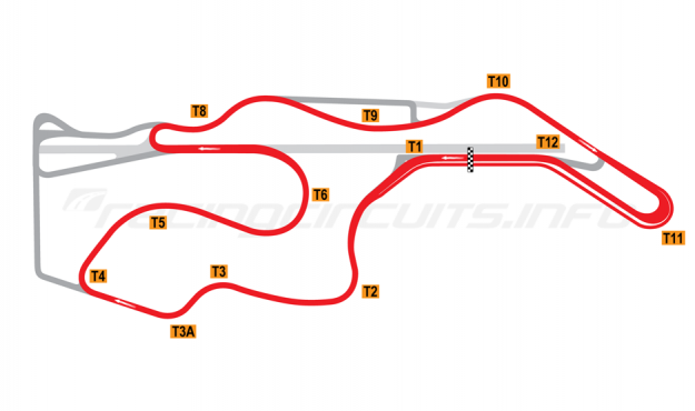 Map of Sonoma Raceway, Short Circuit 2008-11
