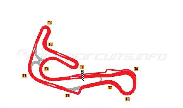 Map of Sturup, Full circuit with chicane 2004