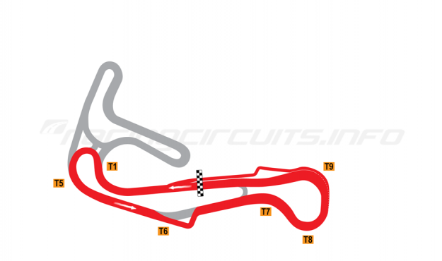 Map of Sturup, Short Circuit 1 with chicane 2004