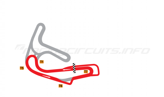 Map of Sturup, Short Circuit 1 with chicane 1990-2003