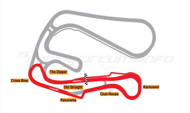 Map of Sturup, Short Circuit 2 with chicane 2005-06