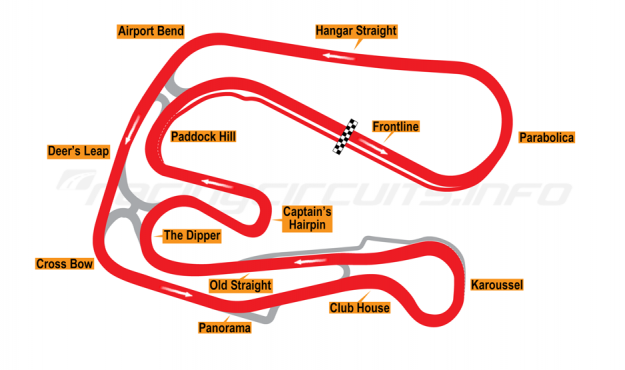 Map of Sturup, Full circuit with chicane 2005-06