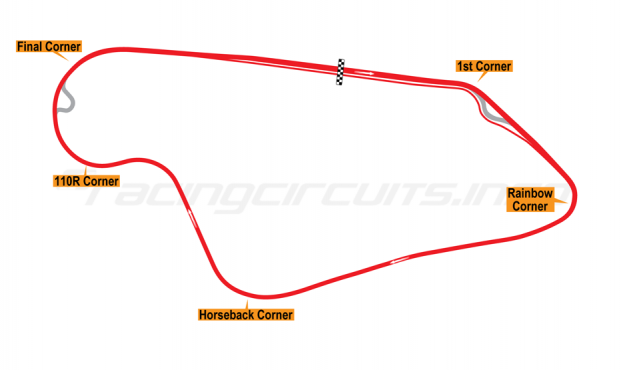 Map of Sugo, International car circuit 1983-86