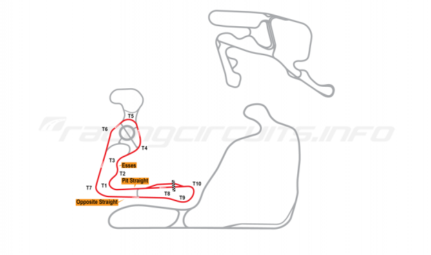 Map of Summit Point, Jefferson Long Circuit 2014 to date