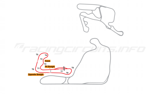 Map of Summit Point, Jefferson Circuit 2005-06