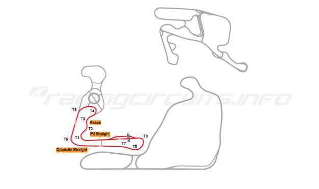 Map of Summit Point, Jefferson Circuit 2014 to date