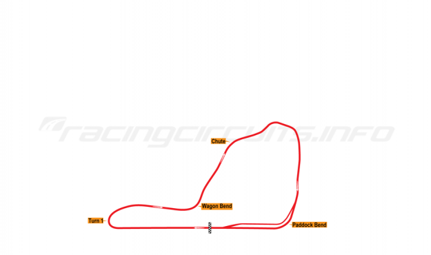 Map of Summit Point, Main Circuit 1969-70