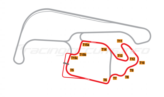 Map of Sydney Motorsport Park, Amaroo (South) Circuit 2012 to date
