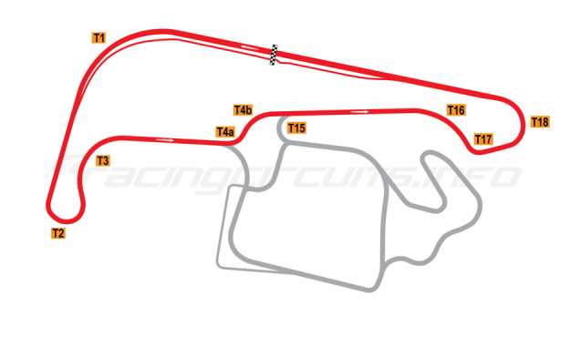Map of Sydney Motorsport Park, Druitt (North) Circuit 2012 to date