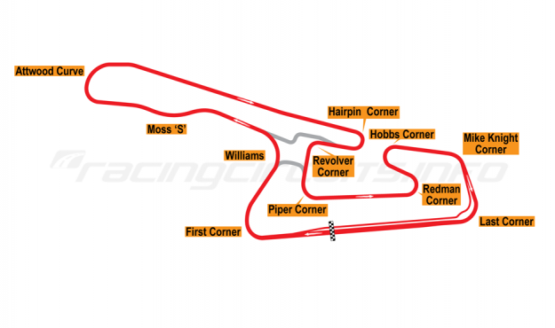 Map of Okayama, Grand Prix Circuit 1990-93