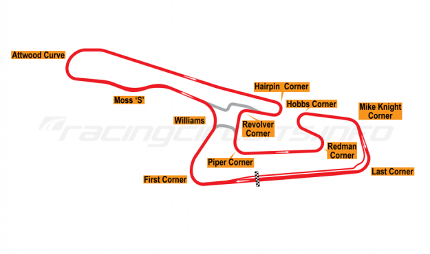 Map of Okayama, Grand Prix Circuit 1994