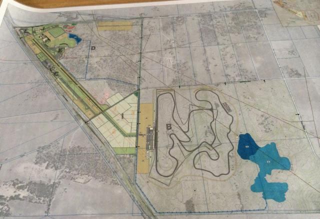 The master plans for the South Austrlian Motorsport Park at Tailem Bend.