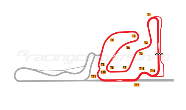 Map of Taupo, National Circuit 2006