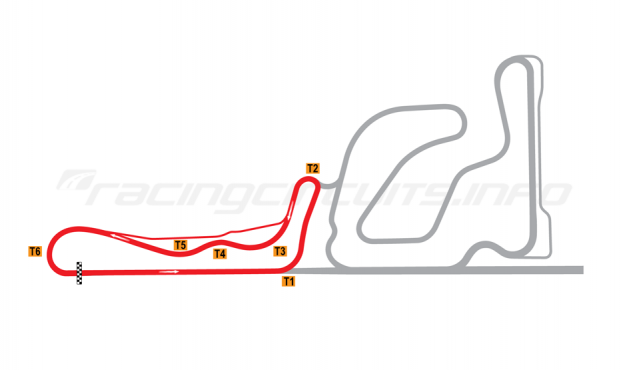 Map of Taupo, Club circuit 2006
