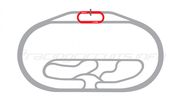 Map of Texas Motor Speedway, Legends Oval Course 2000 to date