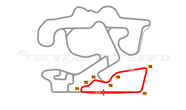 Map of The Bend Motorsport Park, South West Circuit 2018 to date