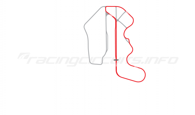 Map of Thunderhill Raceway Park, Two Mile East Course 2006-2014