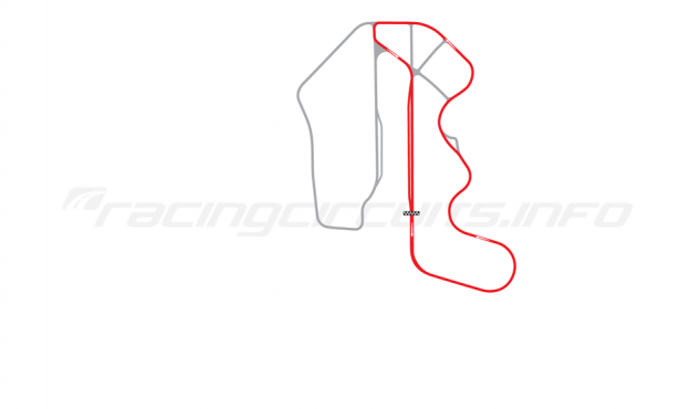 Map of Thunderhill Raceway Park, Two Mile East Course with bypass 1995-2005
