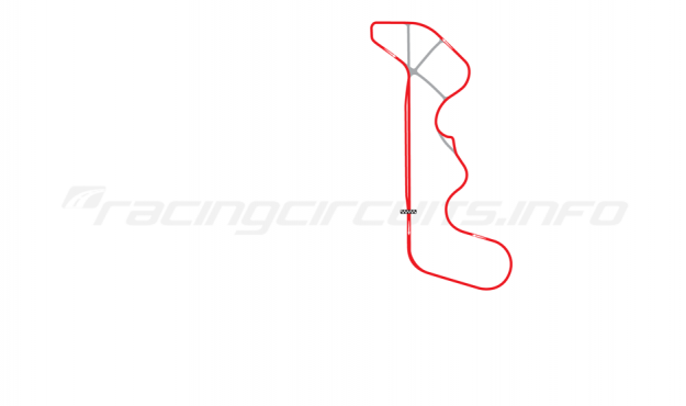 Map of Thunderhill Raceway Park, Full Course 1993-94