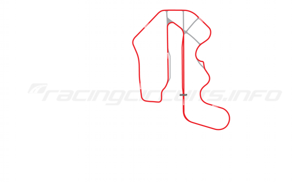 Map of Thunderhill Raceway Park, Three Mile Course 1995-2005